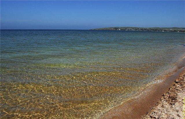 Чистое море в Щелкино